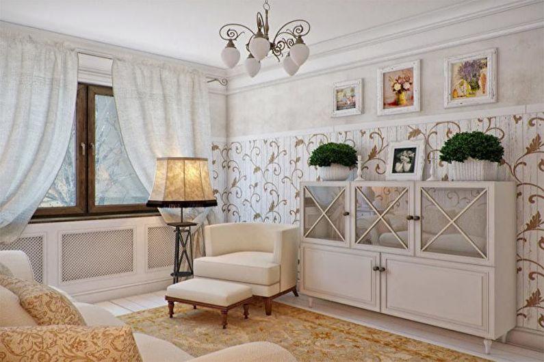 Дизайн гостиной в стиле прованс - Особенности