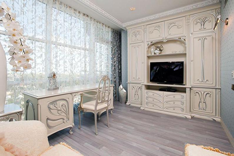 Дизайн гостиной в стиле прованс - Отделка пола
