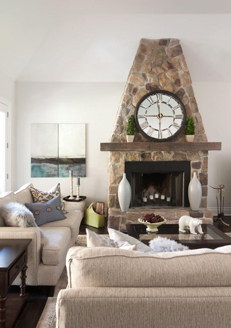 Дизайн гостиной в стиле прованс - Мебель