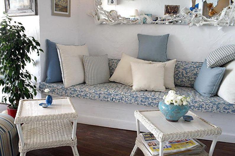 Дизайн гостиной в стиле прованс - Декор и текстиль