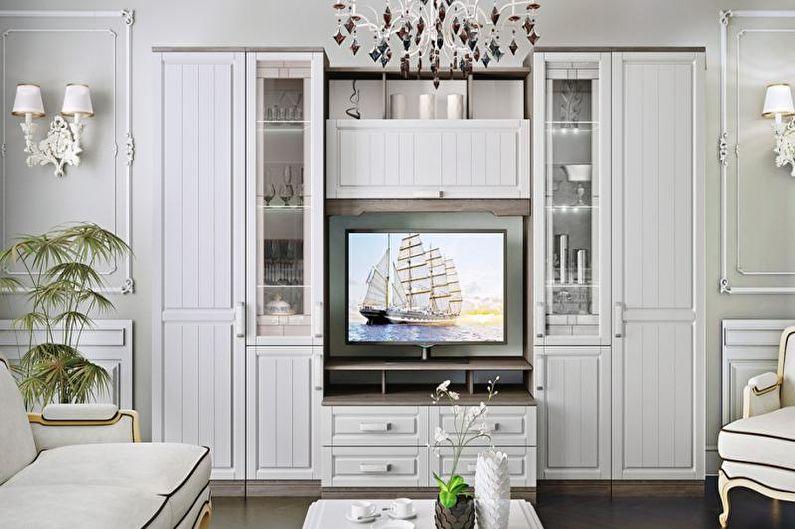 Дизайн интерьера гостиной в стиле прованс - фото