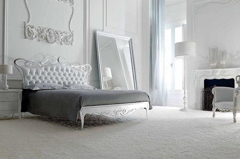Белая спальня в стиле арт-деко - Дизайн интерьера