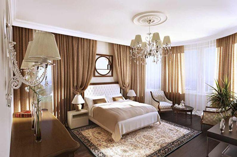 Коричневая спальня в стиле арт-деко - Дизайн интерьера