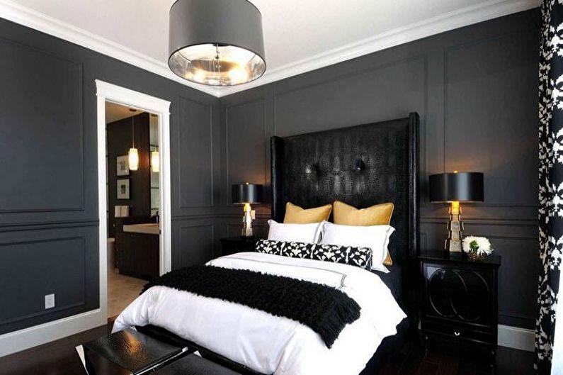 Двухцветная спальня в стиле арт-деко - Дизайн интерьера