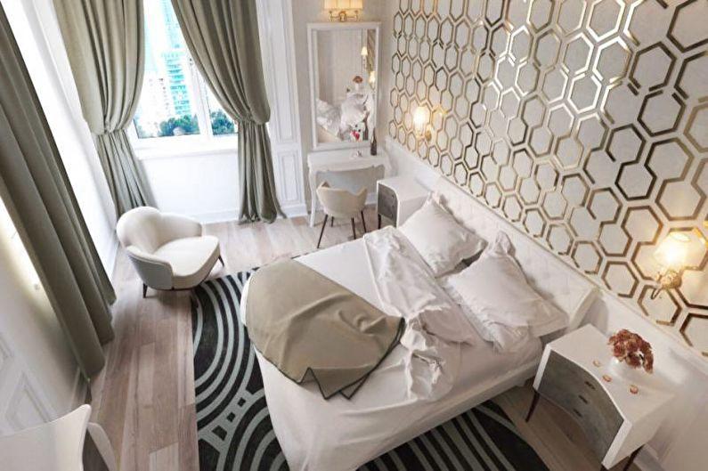 Дизайн спальни в стиле арт-деко - Отделка пола