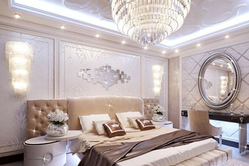 Дизайн спальни в стиле арт-деко - Отделка потолка
