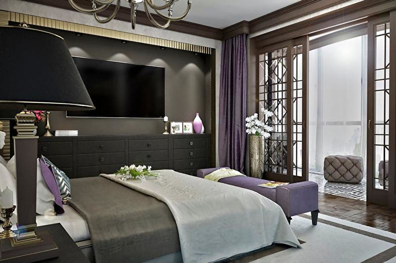 Дизайн спальни в стиле арт-деко - Освещение