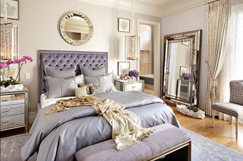 Дизайн спальни в стиле арт-деко - Декор и текстиль
