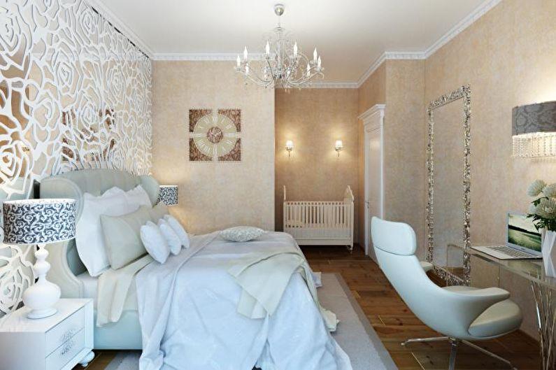 Маленькая спальня в стиле арт-деко - Дизайн интерьера