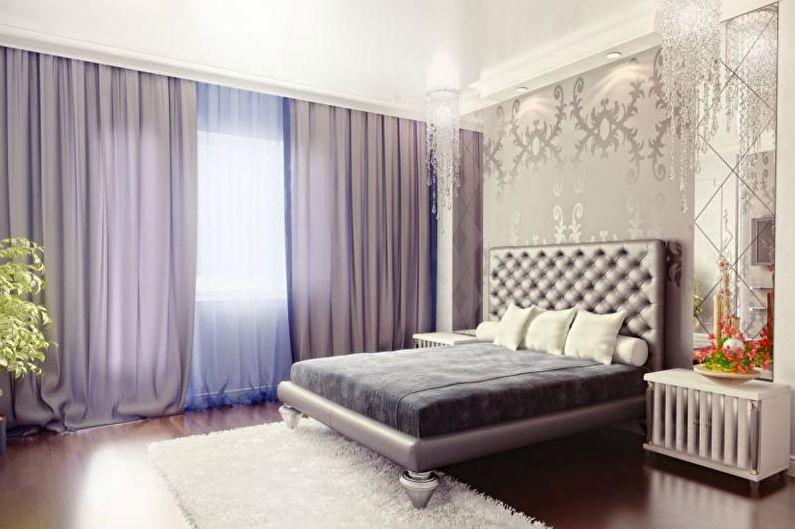 Дизайн интерьера спальни в стиле арт-деко - фото