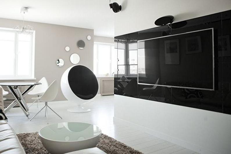 Дизайн квартиры в стиле хай-тек (85 фото): идеи интерьеров, ремонт