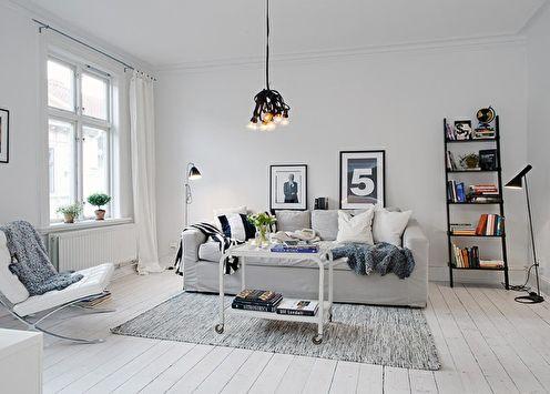 70+ идей дизайна белой гостиной (фото)