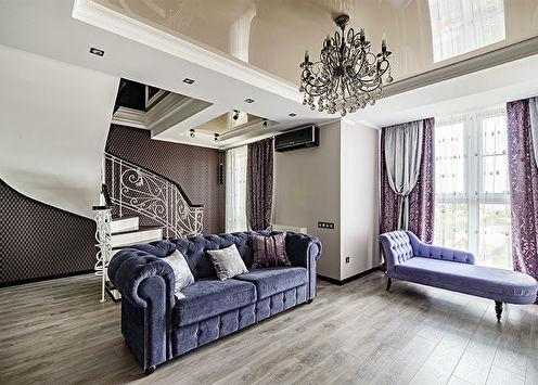 Дизайн двухуровневой квартиры по ул. Марфинской