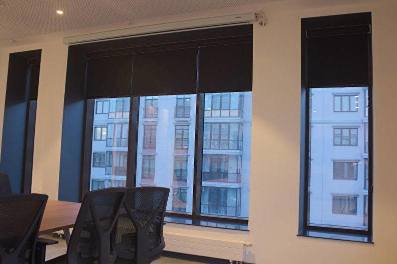 Рулонные шторы Black-Out с электроприводами