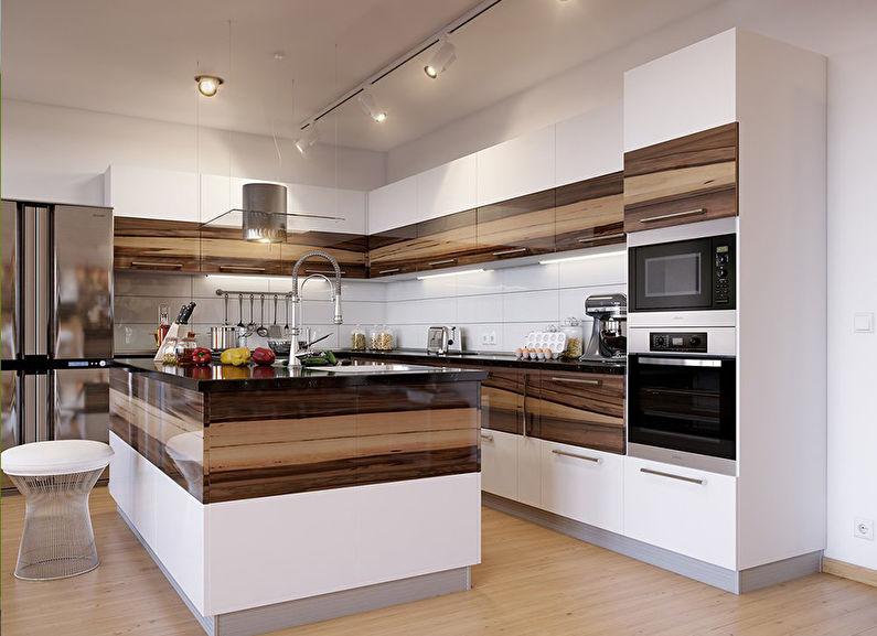 Выбираем фасады для кухни — модные материалы в 2019