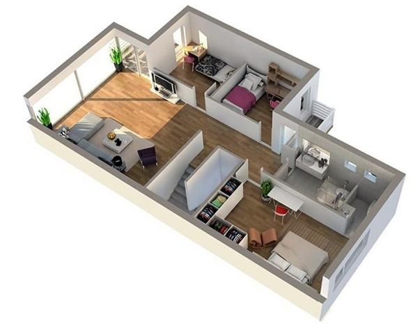 Шаг 6. Объемная модель квартиры - фото