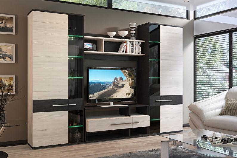 Модульные стенки для гостиной в современном стиле