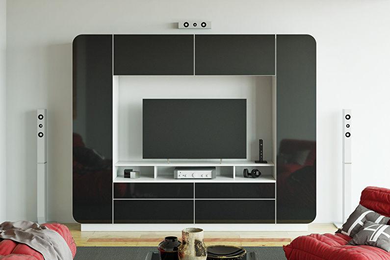 Мини-стенка для гостиной в современном стиле