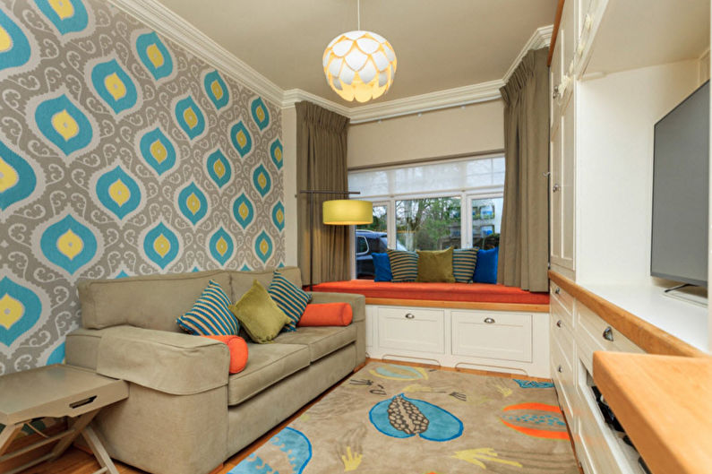 Стенка в маленькую гостиную в современном стиле