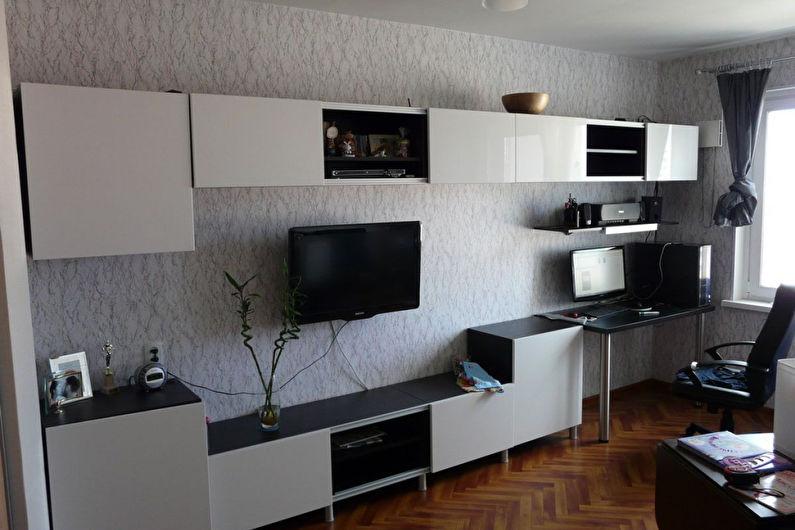 Стенка в гостиную в современном стиле - фото