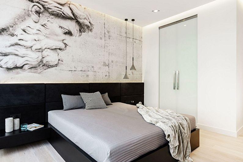 Дизайн спальни 9 кв.м. в стиле минимализм