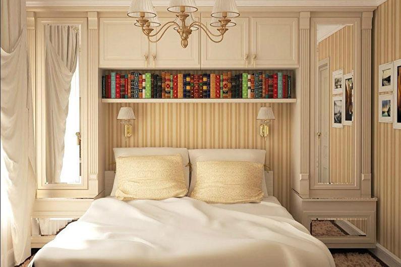 Дизайн спальни 9 кв.м. в классическом стиле