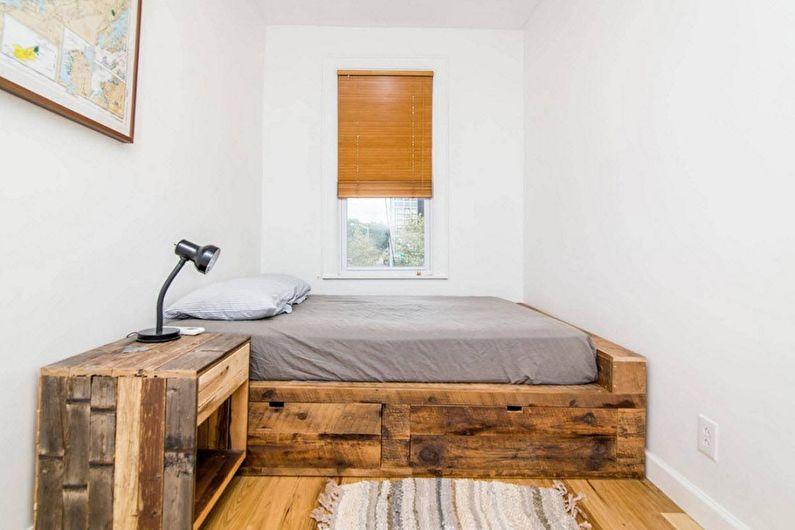 Дизайн спальни 9 кв.м. в эко-стиле