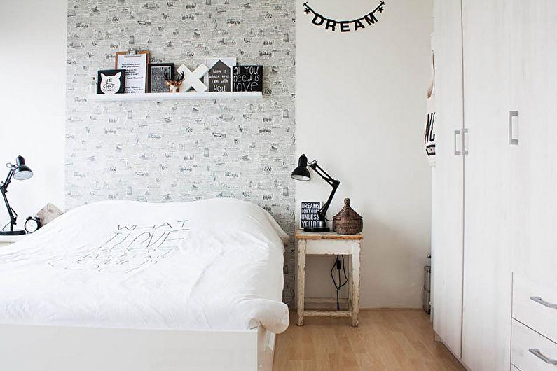 Дизайн спальни 9 кв.м. в скандинавском стиле