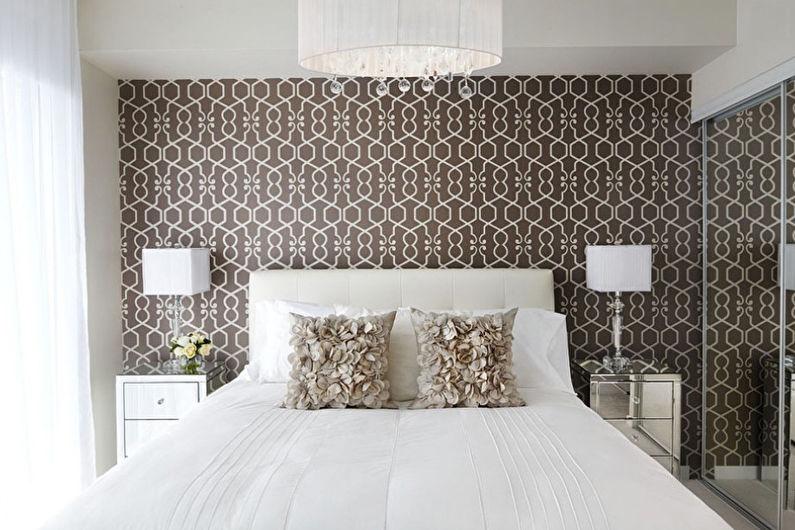 Дизайн спальни 9 кв.м. в контрастных тонах