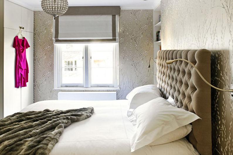 Дизайн спальни 9 кв.м. в пастельных тонах