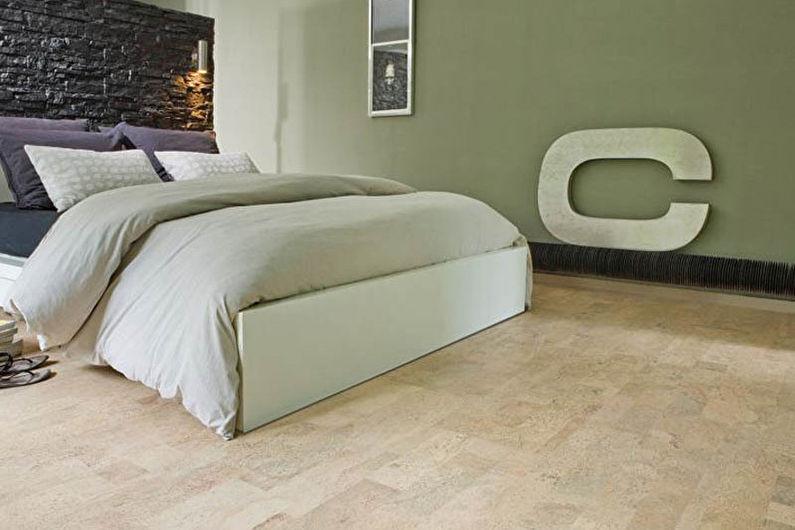 Дизайн спальни 9 кв.м. - отделка пола