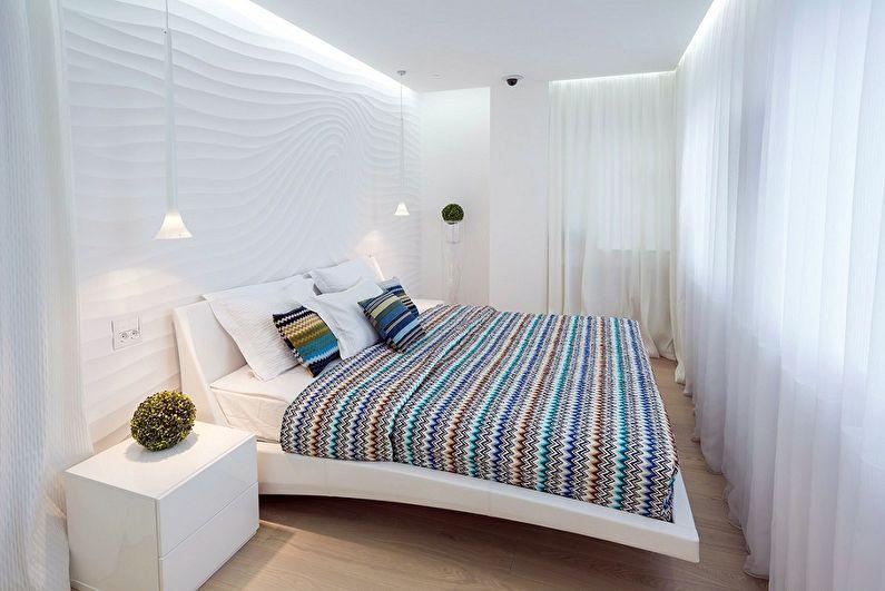 Дизайн спальни 9 кв.м. - отделка потолка