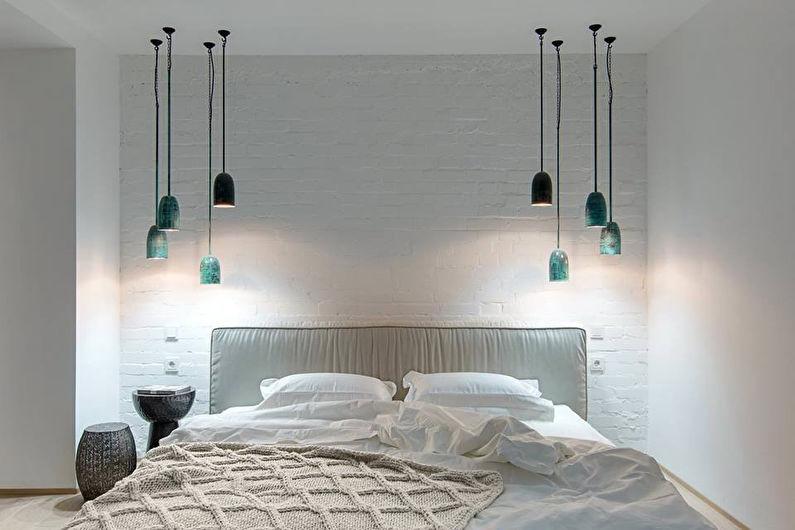 Дизайн спальни 9 кв.м. - освещение и подсветка