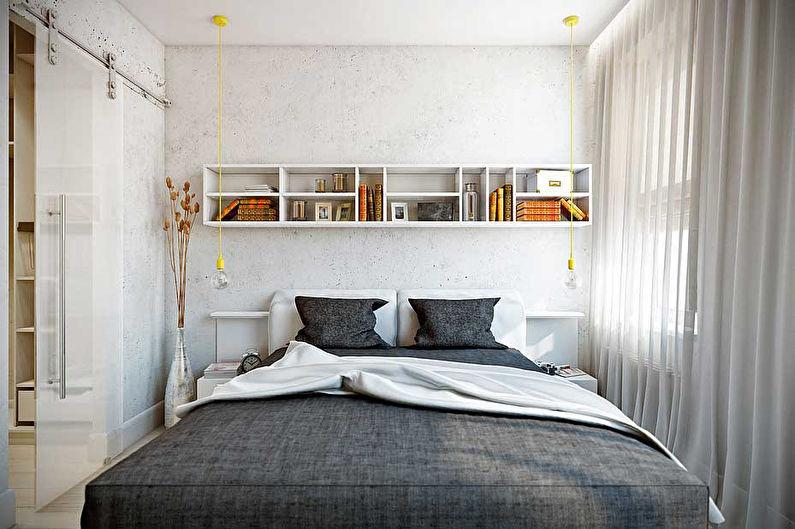 Дизайн спальни 9 кв.м. - фото