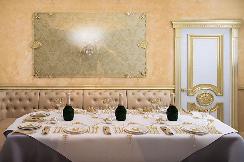 Декоративная штукатурка в интерьере - классический стиль
