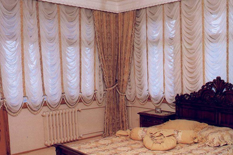 Французские шторы для спальни