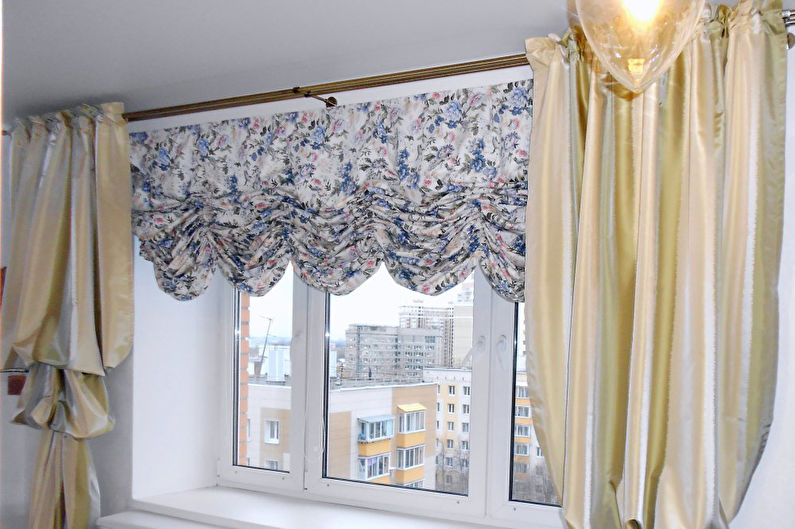 Австрийские шторы для спальни