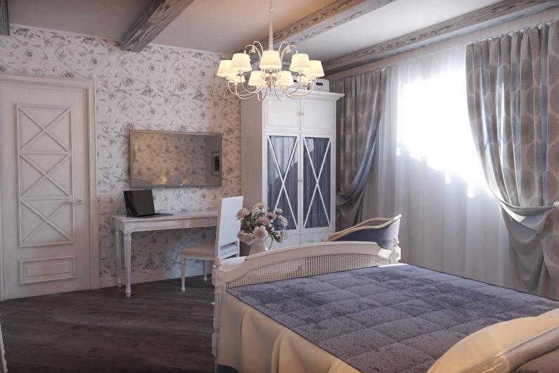 Шторы для спальни в стиле прованс