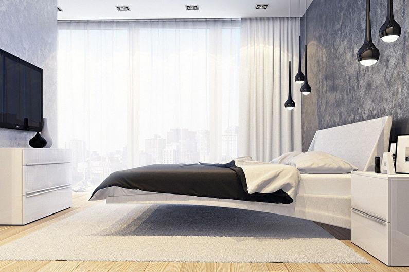 Шторы для спальни в стиле минимализм