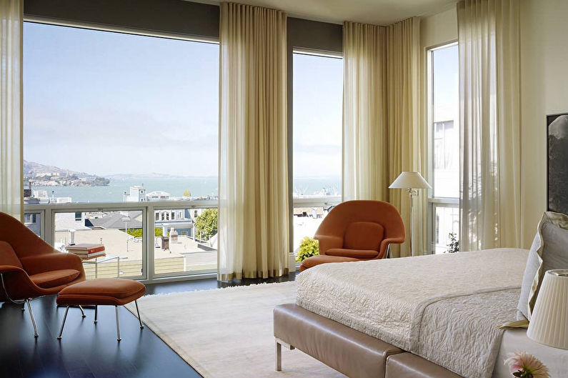 Дополнительные критерии при выборе штор для спальни