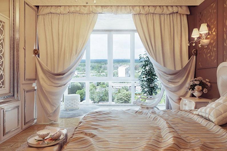 Шторы для спальни - фото