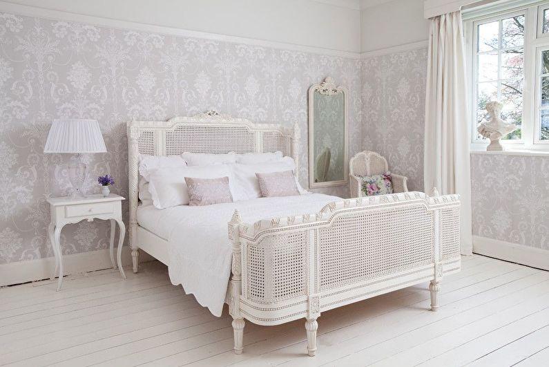 Дизайн белой спальни в стиле прованс