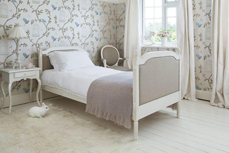 Дизайн бежевой спальни в стиле прованс