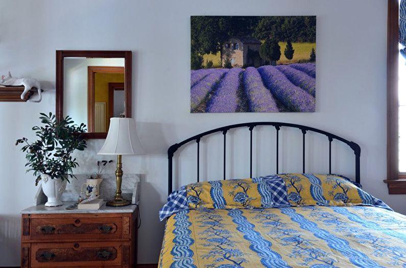 Дизайн синей спальни в стиле прованс