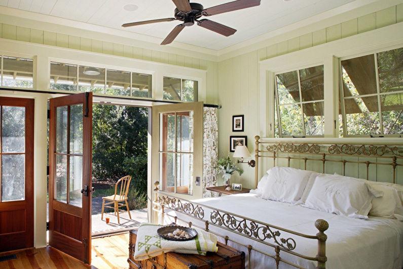 Дизайн салатовой спальни в стиле прованс