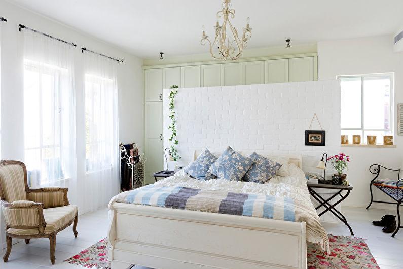 Дизайн спальни в стиле прованс - Отделка пола
