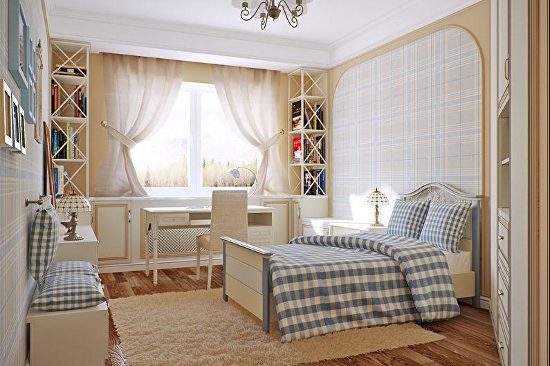 Дизайн спальни в стиле прованс - Отделка стен