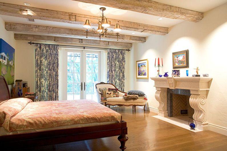 Дизайн спальни в стиле прованс - Отделка потолка