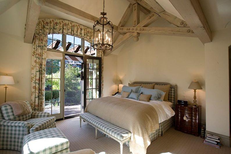 Дизайн спальни в стиле прованс - Правильное освещение