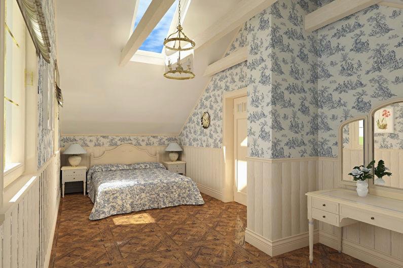 Дизайн интерьера спальни в стиле прованс - фото